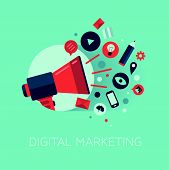 Digital Marketing koncept Illustration