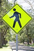 Crosswalk sign, USA