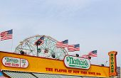 The Nathan's Sign On September 01, 2013 In Coney Island, Ny.