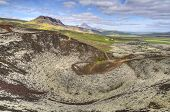 View From Gr�br�k Crater Top in Iceland