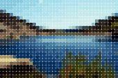Landschape azulejos de rectángulos redondeados (vector)