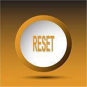 Reset. Plastic button. Vector illustration.