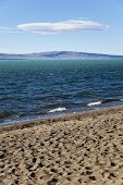 The Lago Argentino From The Beach.