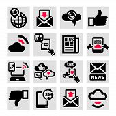 communication vector icons set