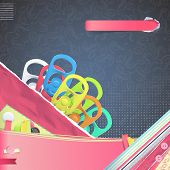 Set Of Colorful Ring Of Can Over Cute Background. Vector Design