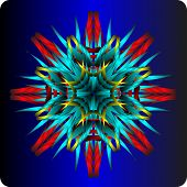 picture of octagon  - abstract octagonal figure in the form of a flower - JPG