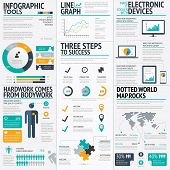 stock photo of neat  - Modern fresh colored business infographic vector illustration elements - JPG