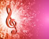 Music background with notes. Vector background.