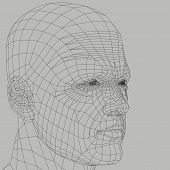 Man Wireframe Illustration