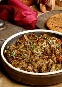 picture of rajasthani  - Top View of Papad ka Shaak - a Veg dish from Rajasthan