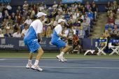 Bob and Mike Bryan at the Los Angeles