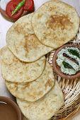Urad dal puri with Coconut chutney from India