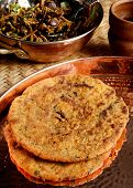 stock photo of rajasthani  - Missi Roti is a traditional staple food from Rajasthan made from wheat and gram flour - JPG