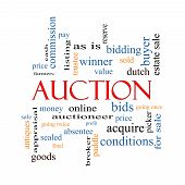 Auction Word Cloud Concept