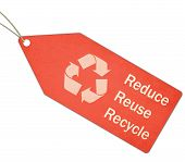 Reduce Reuse Recycle Red Tag And String