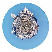 Spherical Panorama Of Montmartre Hill In Paris