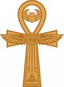 picture of ankh  - Illustration of egyptian cross Ankh isolated on white - JPG