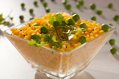 Poha - A breakfast snack made of beaten rice
