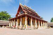 LAOS, VIENTIANE - NOVEMBER 2013: Wat Si Saket Buddish temple NOVEMBER 2013 in Vientiane