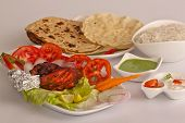 stock photo of kebab  - Crispy Tandoori Chicken is a kebab dish from India - JPG