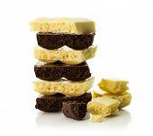 Black And White Porous Chocolate
