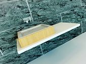 image of wash-basin  - Closeup of modern wash basin - JPG