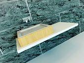 image of wash-basin  - Closeup of modern wash basin - JPG