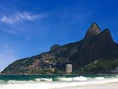 pic of ipanema  - beautiful ipanema Leblon beach in rio de janeiro brazil - JPG