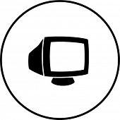 crt monitor symbol