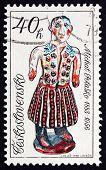 Postage Stamp Czechoslovakia 1978 Woman In Folk Costume