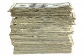 Stack of 100 Dollar Bills