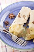Christmas Crepe With Apple Slices