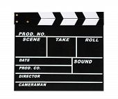 Blank Movie Production Clapper Board