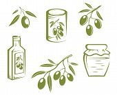 Healthy olives and olive oil