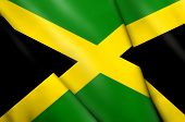 stock photo of greater antilles  - This is an illustration of flag Jamaica - JPG