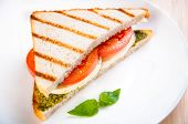 Bread Sandwich With Cheese, Tomato