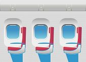 Aircraft Cabin With Portholes And Seats