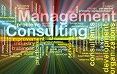 Management Consulting Word Cloud Glowing