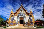 Wat Khrua Khrae Temple In Chiang Rai At Sunny Day