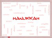 Hanukkah Word Cloud Concept On A Whiteboard