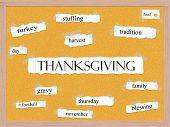 Thanksgiving Corkboard Word Concept