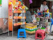 Typical street vendor in Vietnam