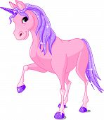 picture of unicorn  - An Vector Illustration of beautiful pink Unicorn - JPG