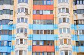 The Facade Of A Modern Residential Building