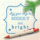 Christmas Sketch Small Branch