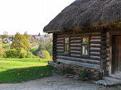 YASNAYA POLYANA, TULA, RUSSIA - SEPTEMBER 28, 2012: Kucharska wooden hut