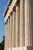 Acropolis Of Athens. Parthenon Columns. Greece