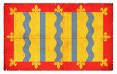 Grunge Flag Of Cambridgeshire (great Britain)