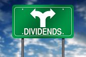 "Road Sign Metaphor with ""Dividends"""