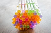 Close Up Colorful Cocktail Straws